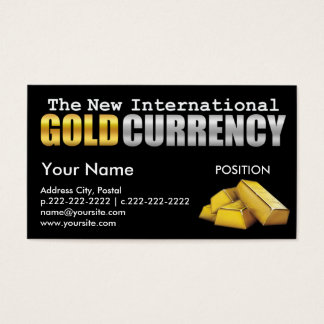 The New International Currency - Business Card