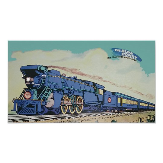 The New Jersey Central Blue Comet Train Poster