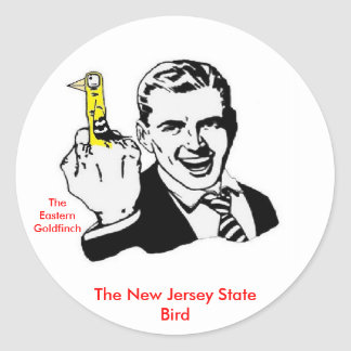 The New Jersey State Bird Classic Round Sticker