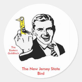 The New Jersey State Bird Round Sticker