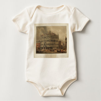 The New Masonic Temple - Boston (1855) Baby Bodysuit