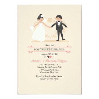 The New Mr. & Mrs. Post Wedding Brunch Invitation