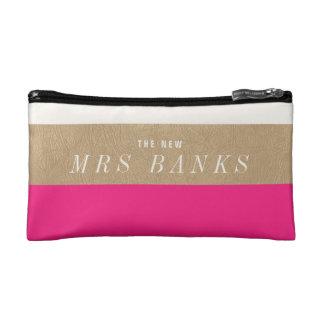 The New Mrs. Hot Pink Makeup Bag