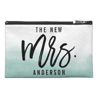The New Mrs Personalized Bride Travel Accessory Bag