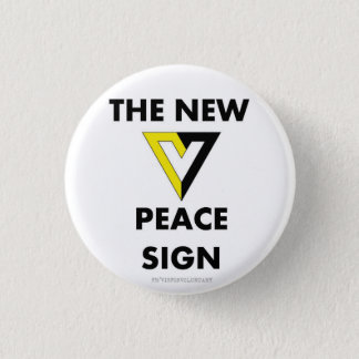 The New Peace Sign 1 Inch Round Button