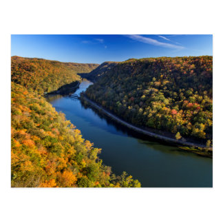 The New River Gorge At Hawks Nest State Park Postcard