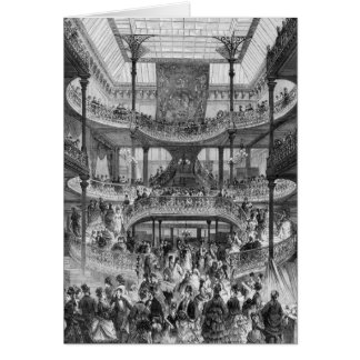 The New Staircase in 'Au Bon Marche' Card