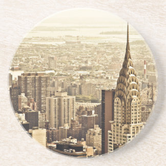 The New York City Skyline & the Chrysler Building Beverage Coasters