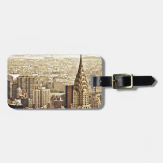 The New York City Skyline & the Chrysler Building Luggage Tag
