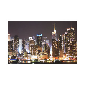 The New York night scene photograph Canvas Print