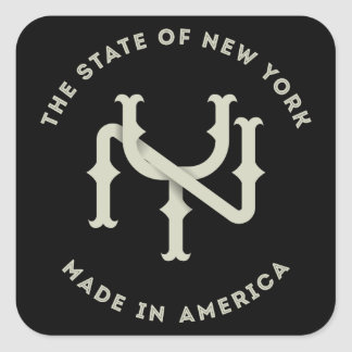 The New York State Monogram NY Pillow Square Sticker