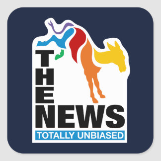 The News:  Totally Unbiased Square Sticker