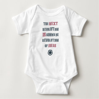 The next revolution is gonna be revolution of idea baby bodysuit
