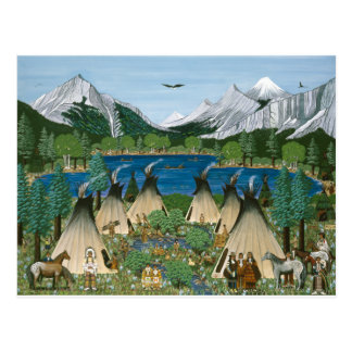 The Nez Perce ~ Wallowa Lake Postcard