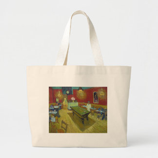 The Night Cafe Canvas Bags