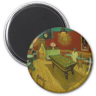 The Night Café by Vincent van Gogh (1888) 2 Inch Round Magnet