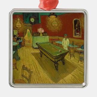 The Night Café by Vincent van Gogh (1888) Silver-Colored Square Ornament