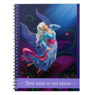 The night fairy flying to the moon with starry sky note book