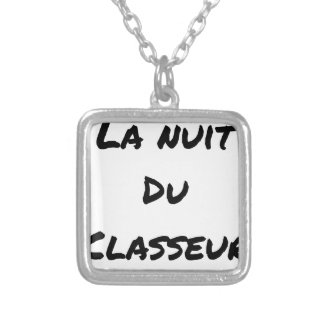 The NIGHT OF the SORTER - Word games - François Silver Plated Necklace