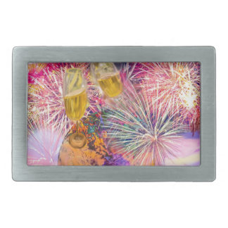 The night shines with fireworks belt buckles