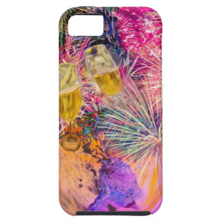 The night shines with fireworks iPhone 5 cover