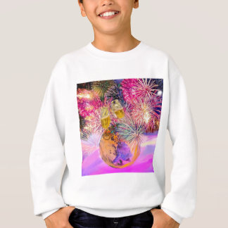 The night shines with fireworks sweatshirt