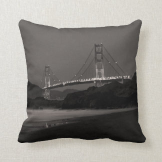 The Night Watch at Golden Gate Throw Pillow