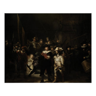 The Night Watch by Rembrandt van Rijn Perfect Poster