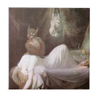 The Nightmare: Henry Fuseli; 18th c. Tile