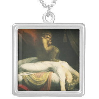 The Nightmare, Henry Fuseli Silver Plated Necklace