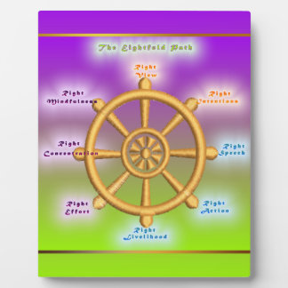 The Noble Eightfold Path (Dharma Wheel) Display Plaques