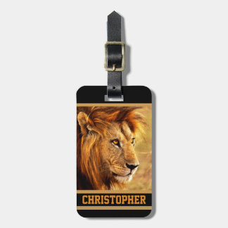 The Noble Lion Photograph Bag Tag