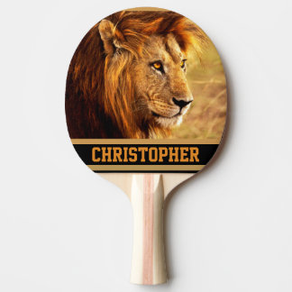 The Noble Lion Photograph Ping Pong Paddle