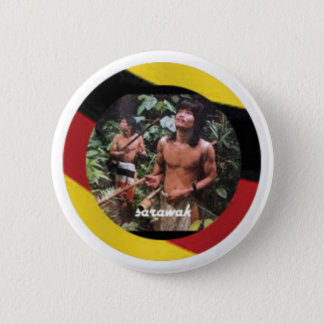 The nomadic native of Borneo Island 2 Inch Round Button