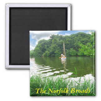 The Norfolk Broads Square Magnet