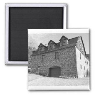 the Norfolk garage Square Magnet