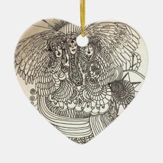 The Norns Ceramic Heart Ornament