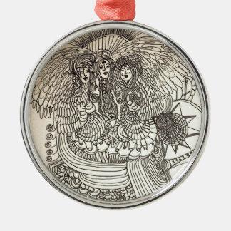 The Norns Silver-Colored Round Ornament