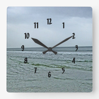 The North Carolina Seashore Square Wall Clock