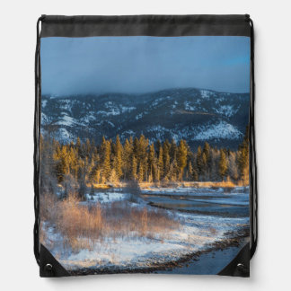 The North Fork Of The Blackfoot River At Sunrise Cinch Bags