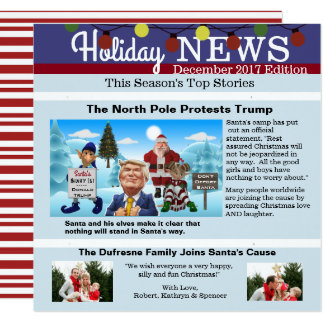 """The North Pole Protests"" Christmas Photo Card"