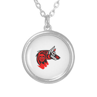 THE NORTHWESTERN PROTECTOR SILVER PLATED NECKLACE