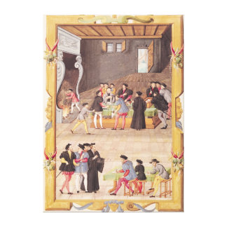 The Notaries and the King's Secretaries Gallery Wrapped Canvas