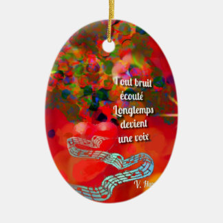 The notes become a song ceramic ornament