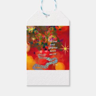 The notes become a song gift tags