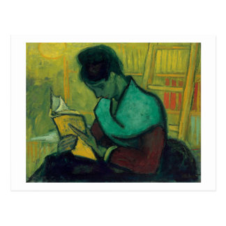 The Novel Reader, Van Gogh Fine Art Postcard