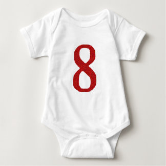 THE NUMBER 8 IN RED BABY BODYSUIT