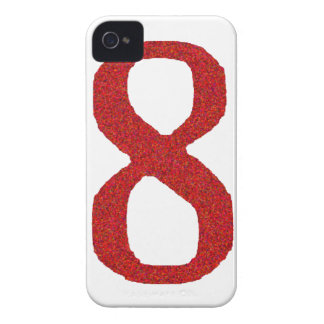 THE NUMBER 8 IN RED iPhone 4 COVER