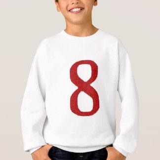 THE NUMBER 8 IN RED SWEATSHIRT