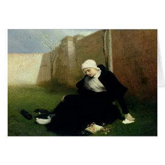 The Nun in the Cloister Garden, 1869 Card